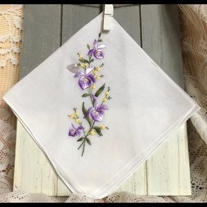Ladies Gift Handkerchief with Sea Glass
